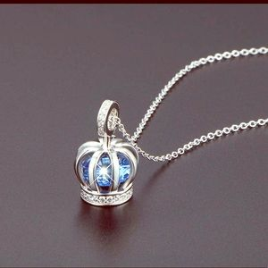 """💯% S925 Sterling silver """"QUEEN CROWN"""" Necklace"""